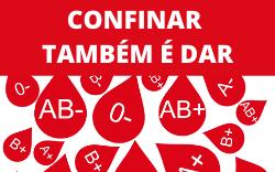 """imagem do post do Campanhado HESE apela à dádiva de sangue:""""Confinar também é dar"""""""